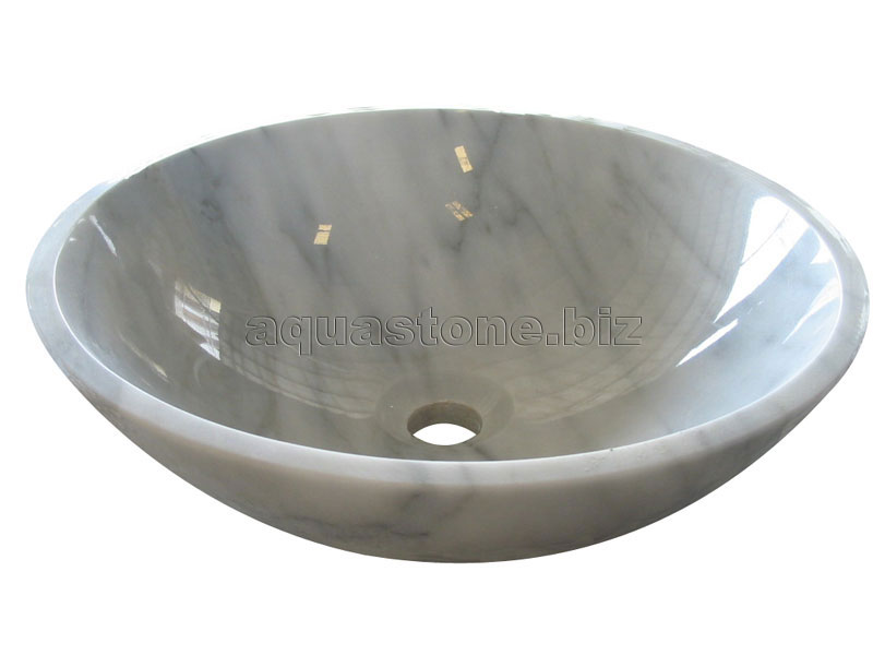 White Marble Vessel Sink : Moon White Marble Vessel Sink 201 Pictures