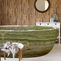 Ванна из зеленого оникса