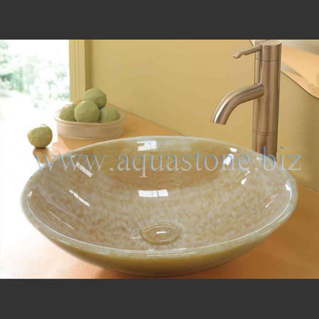 2 033 Honey Onyx Bathroom Sink